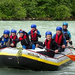 Rafting für Familien und Alleinerziehende mit Kindern