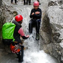 Raftung und Canyoning Wochenende für Familien mit Kindern in der Ötztal Region