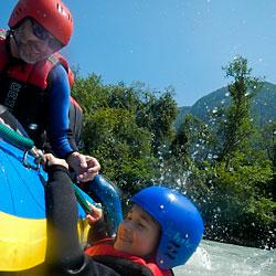 Rafting und Canyoning Wochenende für Familien und Alleinerziehende mit Kindern im Ötztal