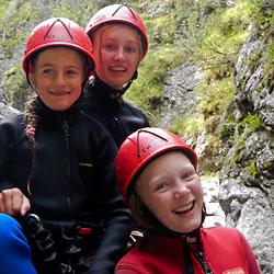 Canyoning für Familien mit Kindern in der Ötztal Region