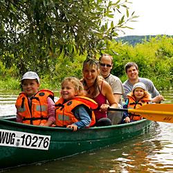 Kanu Tour altmühl für Familien