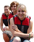 Familien Erlebnisse in Tirol mit  Rafting und Canyoning