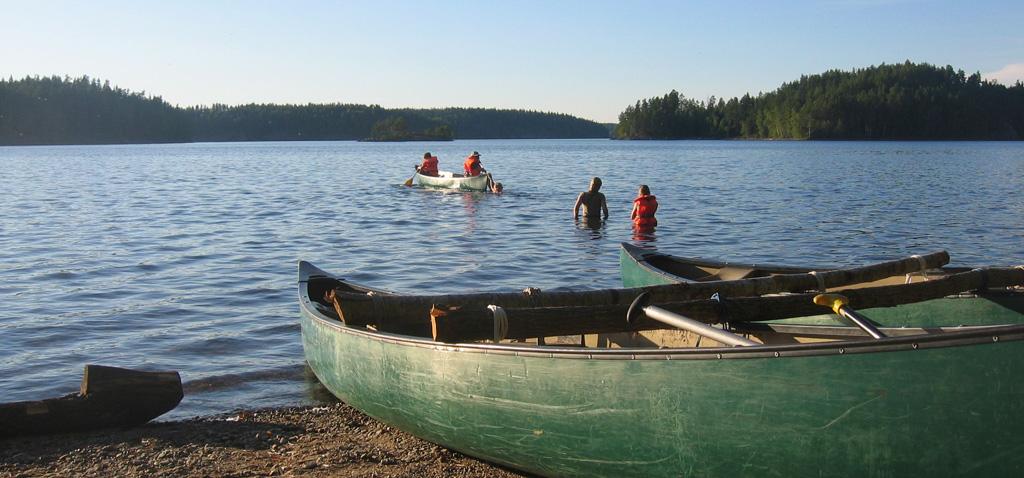 Familien Urlaub in Schweden mit Kanu und Ferienhaus
