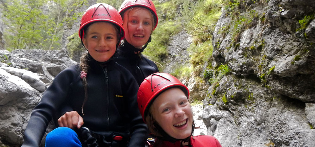 Familien Canyoning Tour in der Ötztal Region