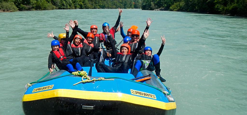 Rafting Tour für Familien mit Kindern auf dem Inn, Ötztal Regio, Tirol
