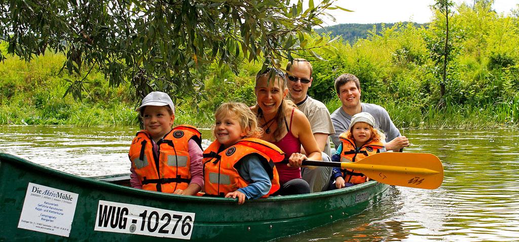 Familien Kanu Tour Altmühl