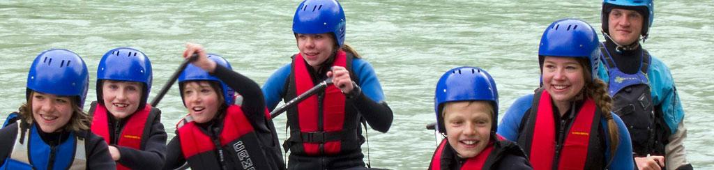 Erlebnis Urlaub mit Rafting und Canyoning für Familien mit Kindern
