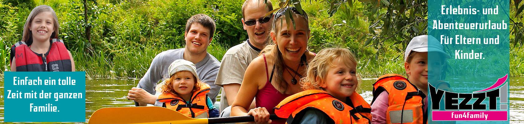 Abenteuerurlaub für Familien